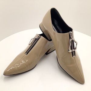 {YUUL YIE} Patent Leather Zip Loafer with Tassel